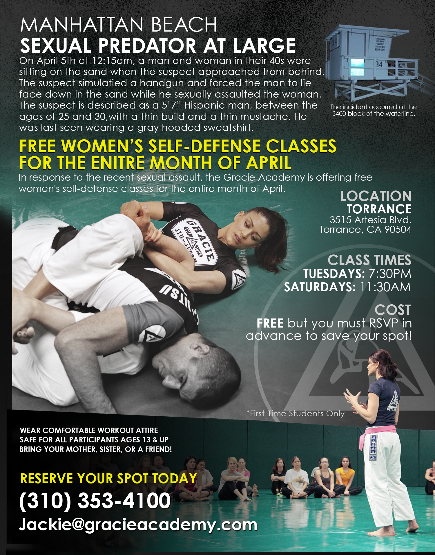 Free WE Classes April Flyer